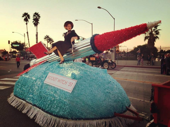 "Replica of ""Rocket Witch"" with Amber Cavener, 2014. 