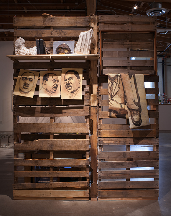 """Edgar Arceneaux, """"A Book and A Medal: Disentanglement Equals Homogenous Abstractions"""""""