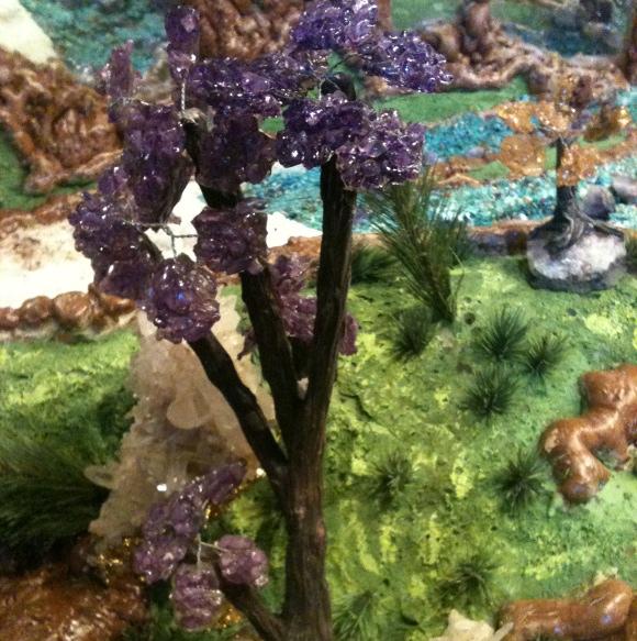 Amethyst flower in Bob's Crystal Cave. | Photo: Caroline Ryder.