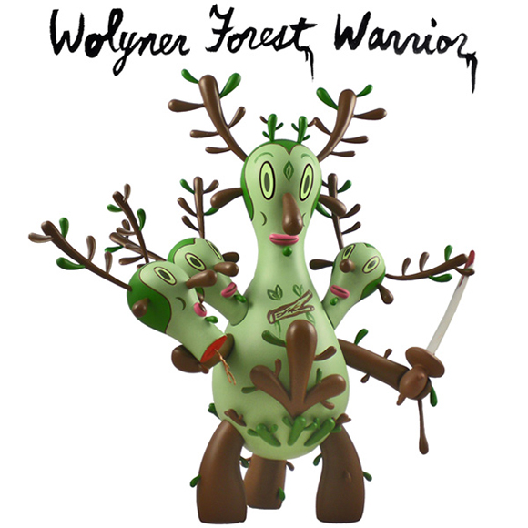 Buckingham Warrior (Wolyner Forest edition), produced by The Loyal Subjects © 2012 Gary Baseman