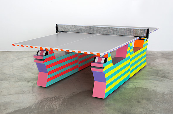 """Ben Jones, """"Ping Pong Table,"""" 2014. Sculpture. 36 inches (H) x 108 inches (W) x 72 1/2 inches (D).   Photo: Courtesy Ace Gallery Beverly Hills."""