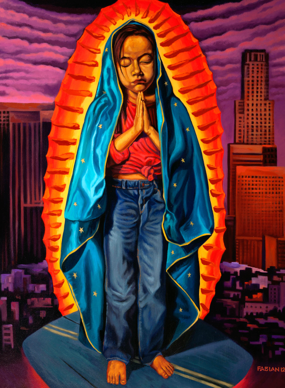 """ Guadalupe and Malintzin: The Virgin and the 'Traitor'"" by Fabian Debora, 2011. 