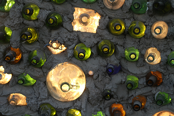 Bottle Wall detail | Photograph by Olivia Salcedo
