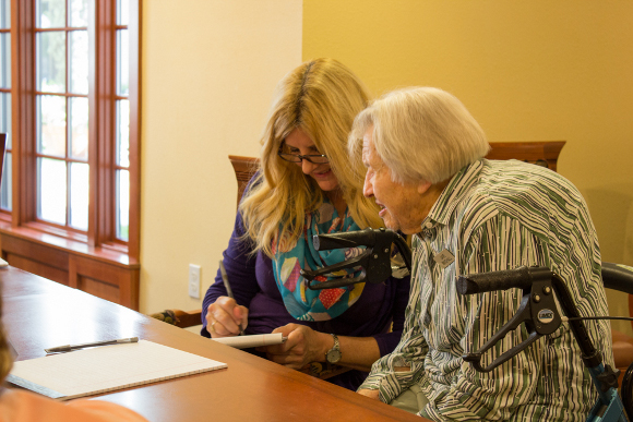 """Olfactory Memoirs Creative Writing Workshop with Judy Reeves"" at La Vida Real Retirement Community, 2015."