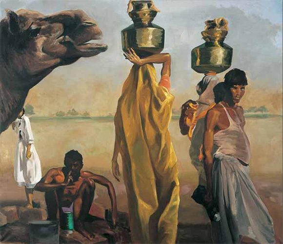 "Eric Fischl, ""By the River,"" 1989, Oil on Linen, 98x114inches"