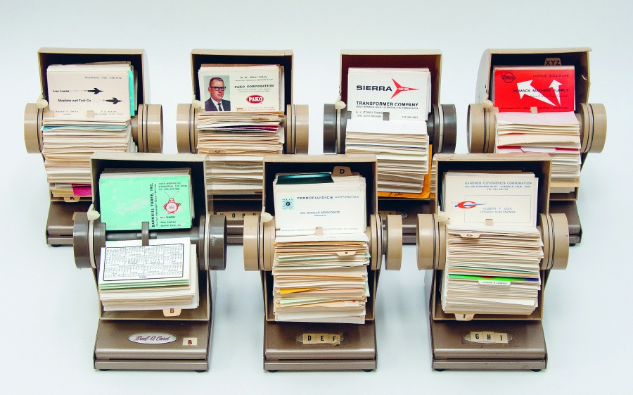 Collection of Los Alamos Rolodex. | Photo: © The Center for Land Use Interpretation.