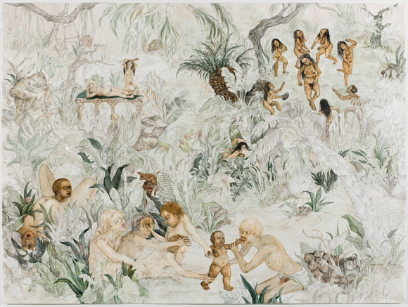 "Candice Lin, ""Birth of a Nation,"" 2008, watercolor and ink on paper, 42 ¼ x  55 1/8  x 2 in."