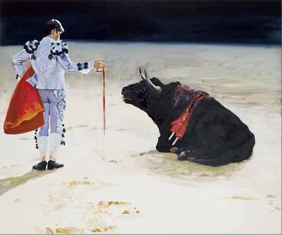 "Eric Fischl, ""Corrida in Ronda, No.8,"" 2009, Oil on Linen, 90x108inches"