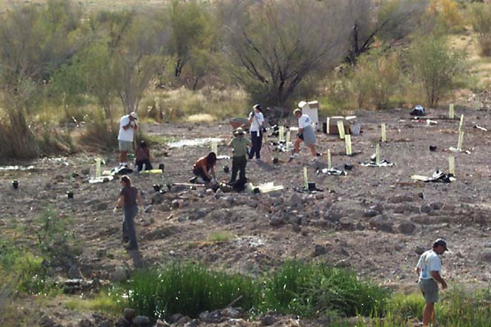 Participating volunteers have been essential in numerous Ash Meadows restoration efforts that have occurred here over the years. | Photo: USFW.