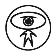 ('Expanding Man' logo for Dilated Peoples. Created by Brent Rollins.)