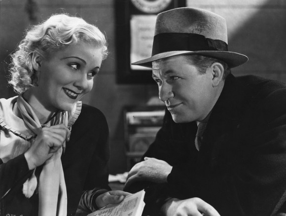 """1931: A scene from the film """"Working Girls,"""" featuring Judith Wood and Stuart Erwin (1903 - 1967) the character comedian. The film was directed by Dorothy Arzner. 