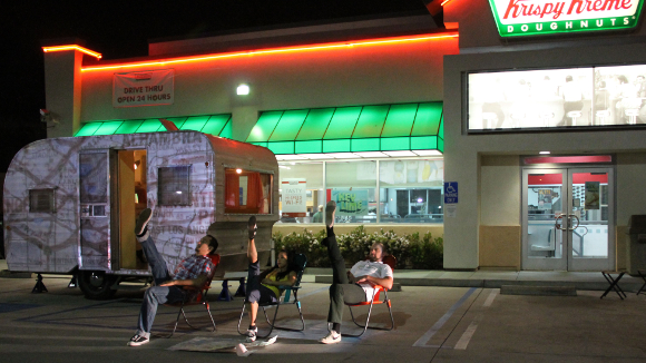 """At the Oasis"" at Krispy Kreme in South Los Angeles. 
