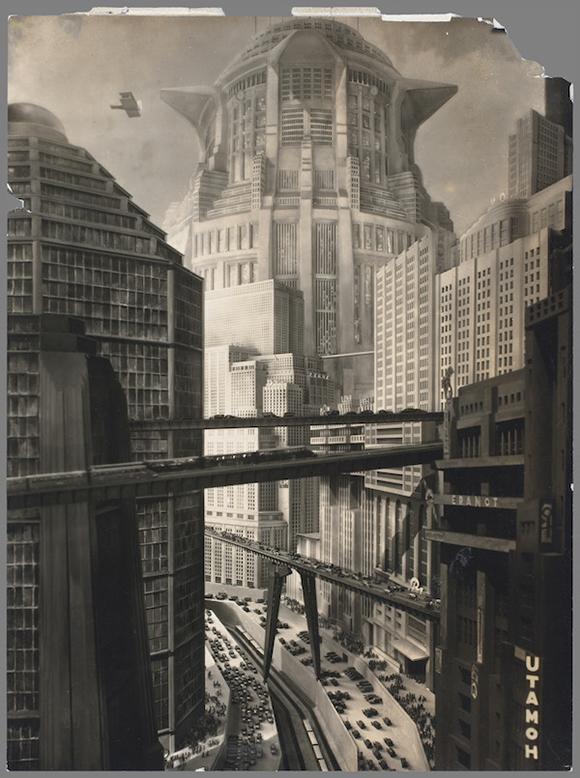 """Horst von Harbou, set photograph from """"Metropolis, """" 1927, directed by Fritz Lang, La Cinémathèque française"""
