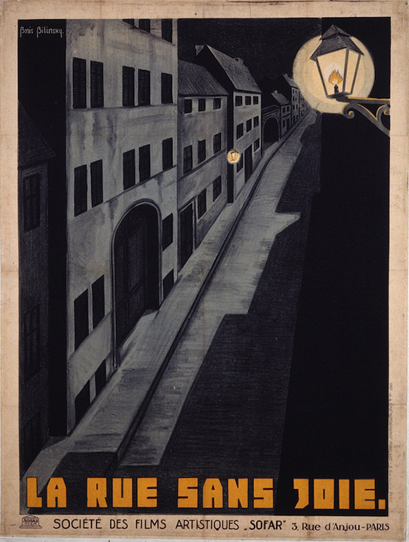 "Boris Bilinsky, poster for ""The Joyless Street (Die Freudlose Gasse),"" c. 1925, directed by Georg Wilhelm Pabst, La Cinémathèque française"