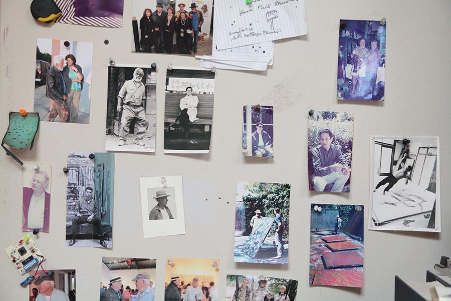 Wall of photographs at Ed Moses' Venice home. | Photo: Drew Tewksbury.