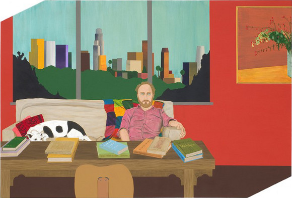 Ed Templeton, &quot;Portrait of Mike Mills,&quot; 2008, acrylic on panel<br /> 41 x 60 in (104.1 x 152.4 cm). | Photo: Courtesy of the artist and Roberts & Tilton Gallery.