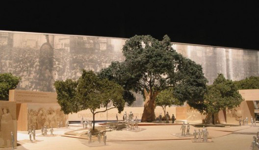 Gehry Partners model of the proposed Eisenhower Memorial.