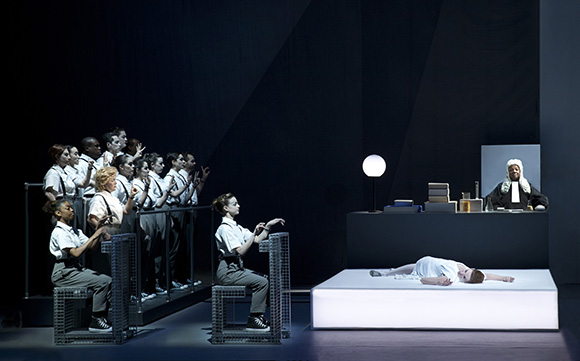 "A scene from ""Einstein on the Beach"" 
