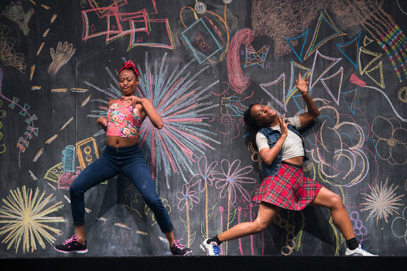 "Fana Fraser and Beatrice Capote in ""Black Girl: Linguistic Play."" 