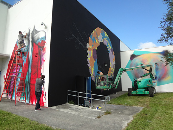 Fin Dac mural at Jose De Diego Middle School in Wynwood