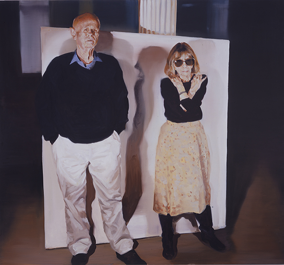 "Eric Fischl, ""Joan and John,"" 2002, Oil on Linen, 70x75 inches (177.8  x 190.5 cm) 