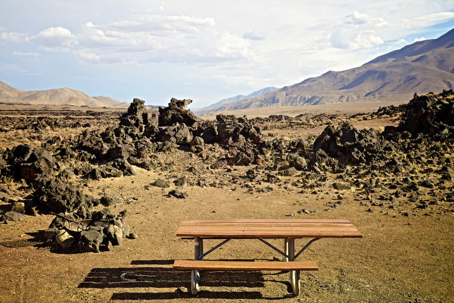 """Fossil Falls Campsite,"" off CA Highway 395. 2015. 