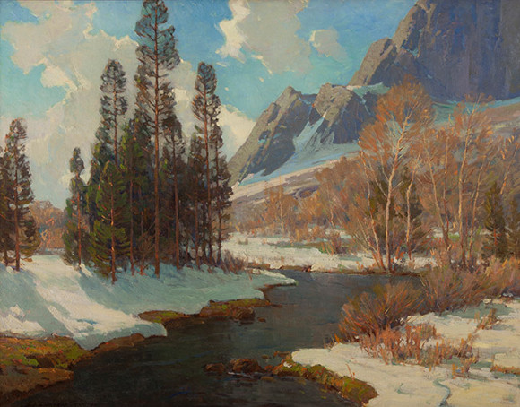 "Jack Wilkinson Smith, ""Lingering Snows,"" oil on canvas (Gardena High School Class of Winter 1923)."