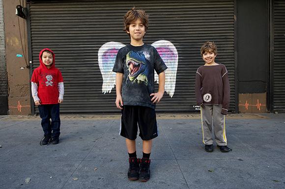 kids angel wings mural la