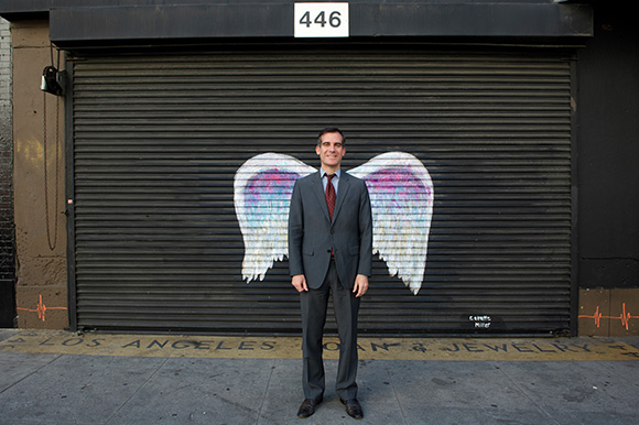 Mayor Eric Garcetti. | Photo: Gary Leonard.