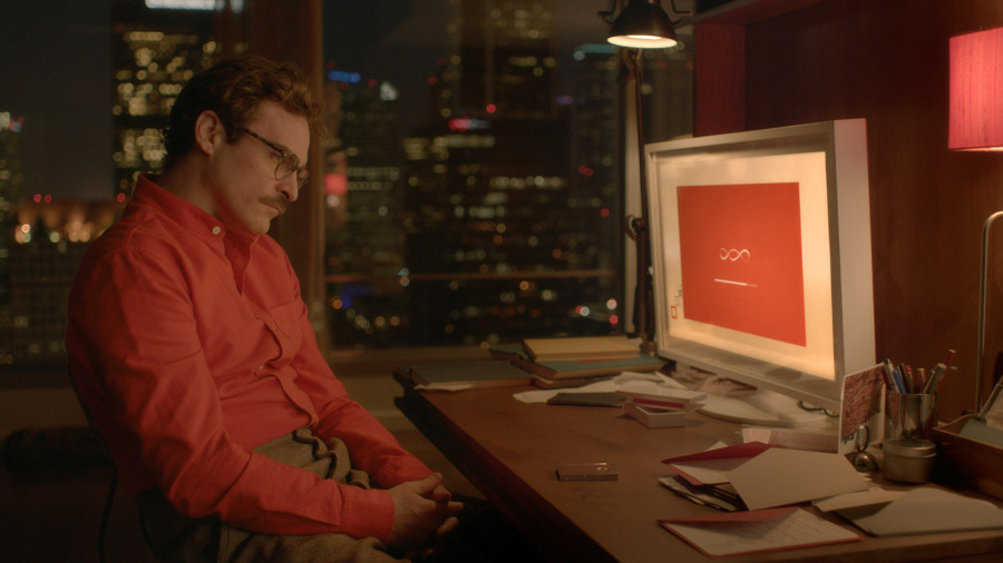 """Her"" directed by Spike Jonze with production design by K. K. Barrett. 