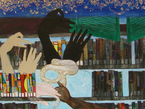 """""""Swan Shadow"""" by Katie Herzog."""