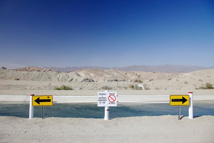 """Arrows."" Coachella Canal near Salton Sea, CA. 2014. | Photo: Osceola Refetoff."