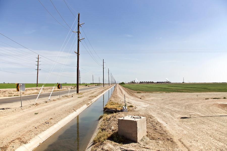 """Irrigation Canal Near Thermal Plant."" Niland, CA. 2014. | Photo: Osceola Refetoff."