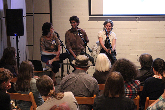 Julia Meltzer, Michael Parker and Jenny Price in conversation | Photo: Emma Sheffer