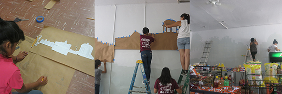 From start to finish, the Community Liaisons were involved in every step of the mural making process.<br />