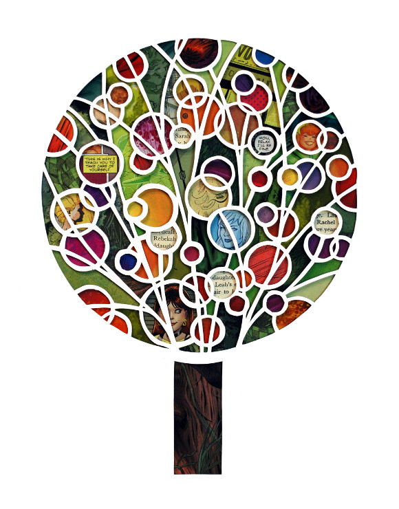 "Isaac Brynjegard-Bialik, ""Tree of Mothers and Daughters,"" 2015. The artwork is on view at exhibition ""Women of Valor."""