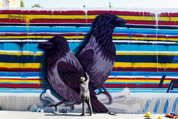 Istanbul mural in progess. | Photo: Mehmet Naci Demirkol.