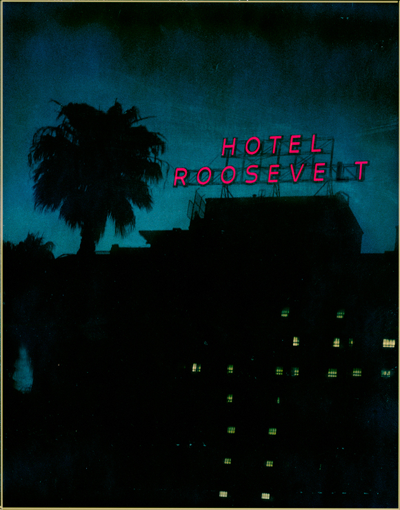 Hollywood Roosevelt Hotel, 2002. T-79 4 x 5 Polaroid. | Photo: Jim McHugh.