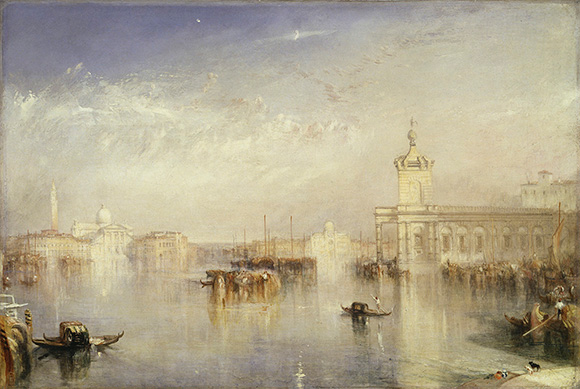 "Joseph Mallord William Turner (British, 1775 - 1851), ""The Dogano, San Giorgio, Citella, from the Steps of the Europa,"" exhibited 1842. Courtesy of Tate: Presented by Robert Vernon 1847. Photo © Tate, London 2014."
