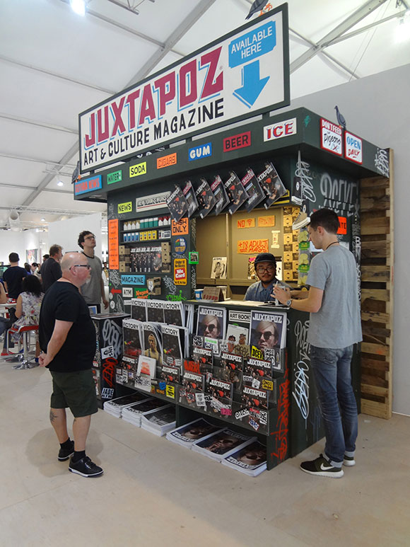 Juxtapoz booth at Scope