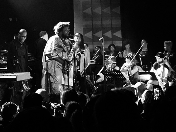 Kamasi Washington and The West Coast Get Down at the Regent Theater. | Photo: Drew Tewksbury.