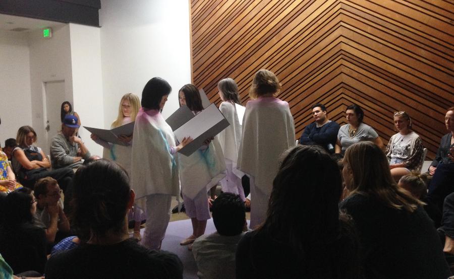 "Performance, ""Brainchild Part 3"" at LAXART, Los Angeles. | Photo: K. Johnson."
