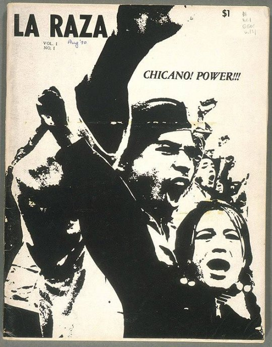 La Raza, Vol. 1 No. 1 Cover, Aug. 1970.