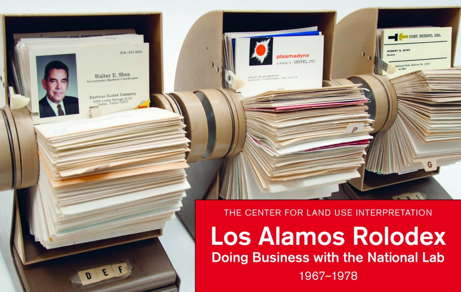 """Cover of """"Los Alamos Rolodex: Doing Business with the National Lab, 1967-1978,"""" published by Blast Books. 