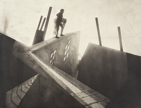 "Unknown photographer, set photograph from ""The Cabinet of Dr. Caligari (Das Kabinett des Dr. Caligari),"" 1919, directed by Robert Wiene. Los Angeles County Museum of Art, Robert Gore Rifkind Center for German Expressionist Studies"