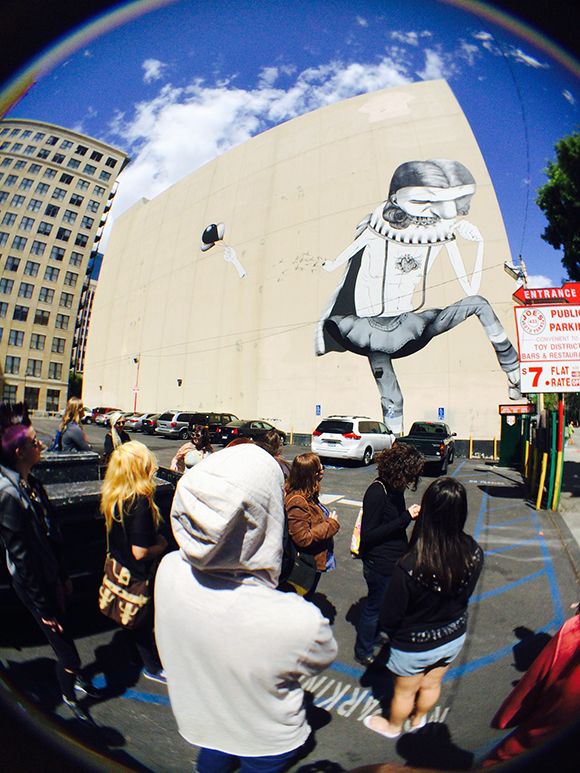Man One as LACMA docent for graff tour in downtown L.A. | Photo: Fred Alcantar