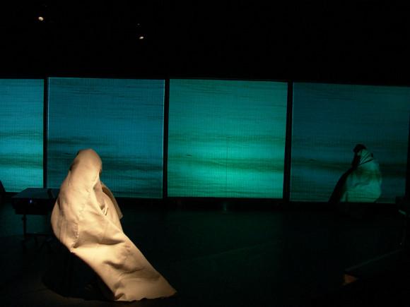 "Mapa Teatro Laboratorio de Artistas, ""Witness to the Ruins,"" 2005, Vienna, video performance. | Photo: Rolando Vargas, courtesy of Mapa Teatro."