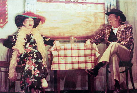 "Marta Becket with performing partner Tom ""Wilget"" Willet. 