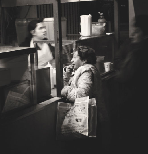 """Woman Ordering Food,"" 2008 © Kevin McCollister"