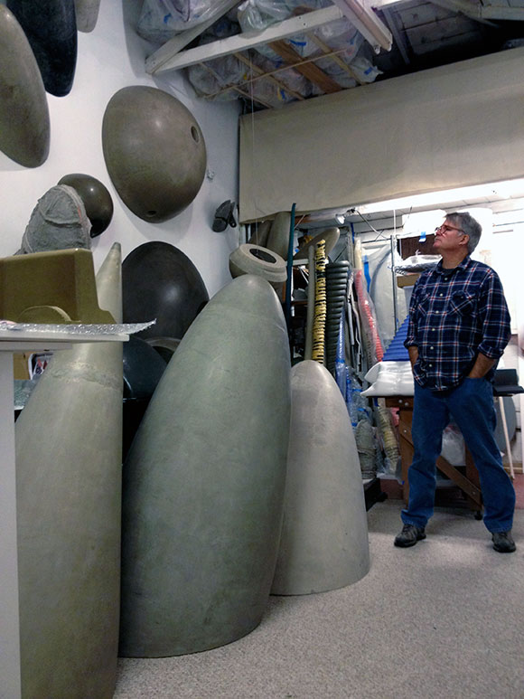 Tom Driscoll in his studio | Photo: Michael James Armstrong